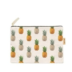 Handbags - NWT Pineapple Canvas Pouch